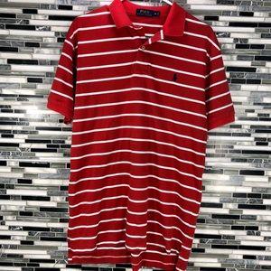 Polo Ralph Lauren Men's Striped Red Orange Shirt